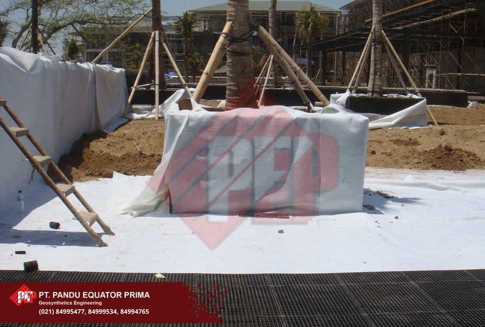 Dokumentasi Pemasangan Drainage Cell Untuk Taman Atap di Hotel Alila Bali